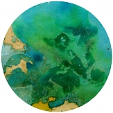 planet artwork abstraction expressionism color painting art