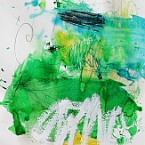 galaxies art abstraction painting green