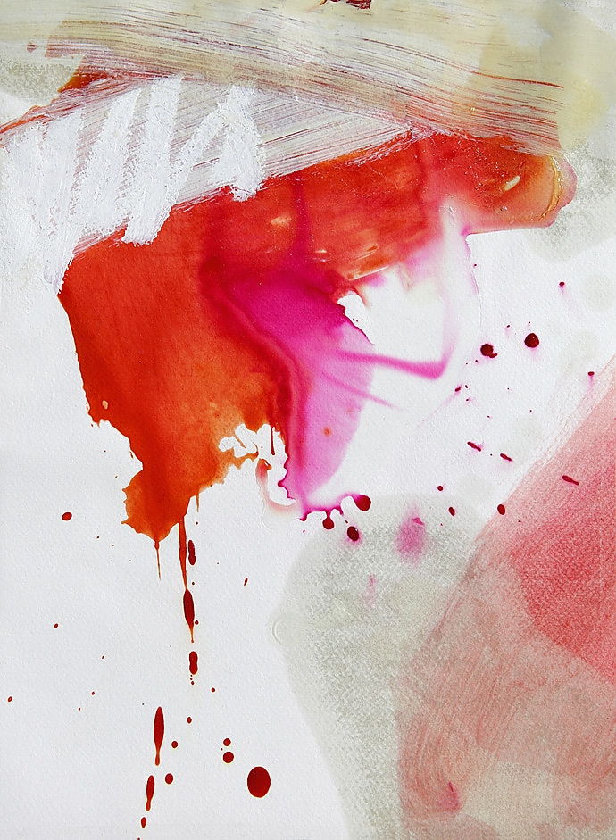 painting color galaxies magenta orange expressionism abstraction