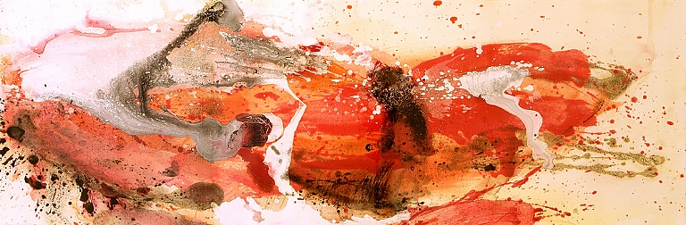 galaxies art abstraction painting orange