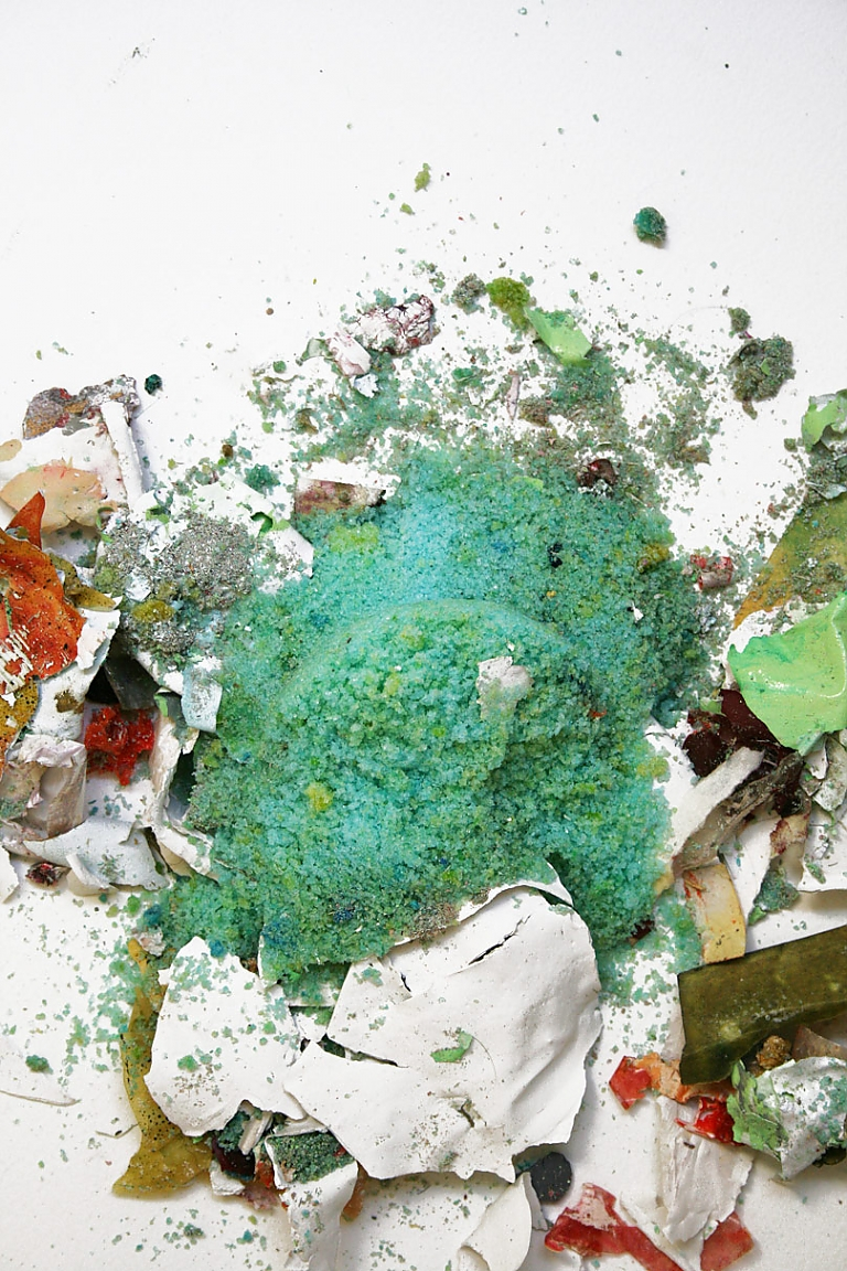 recycled debris expressionistic abstract photography sculpture
